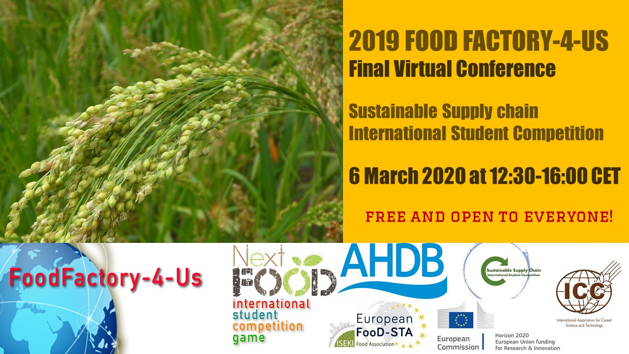 FoodFactory-4-Us Final Conference on Sustainable Cereals - 6 March 2020