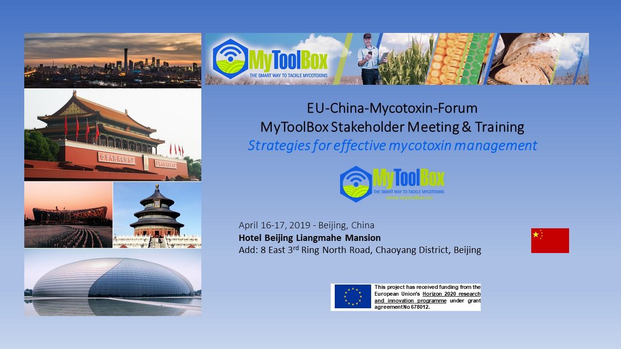 Strategies for effective mycotoxin management - MyToolBox Stakeholder Meeting & Training in China