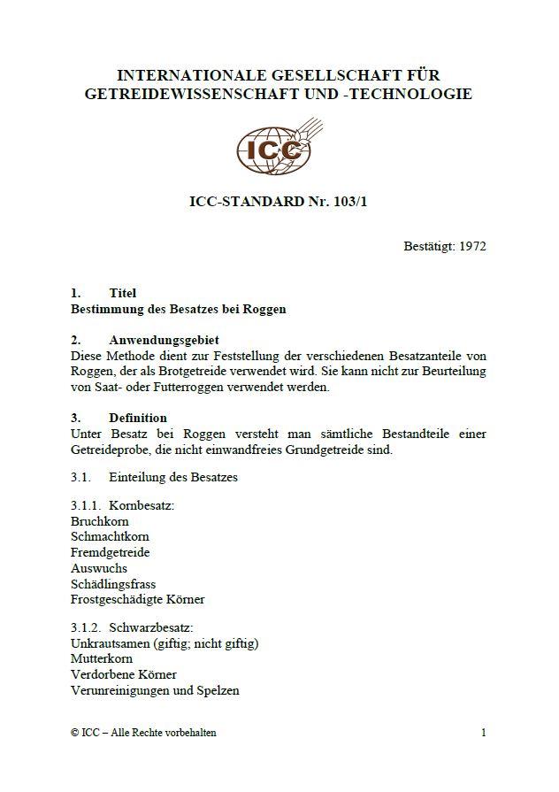 103/1 Bestimmung des Besatzes bei Roggen [PDF]