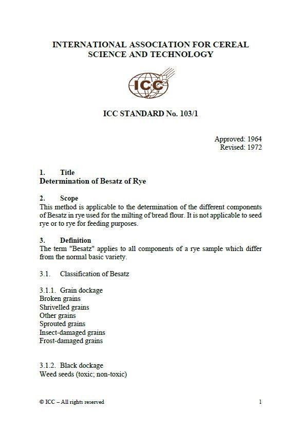 103/1 Determination of Besatz of Rye [PDF]