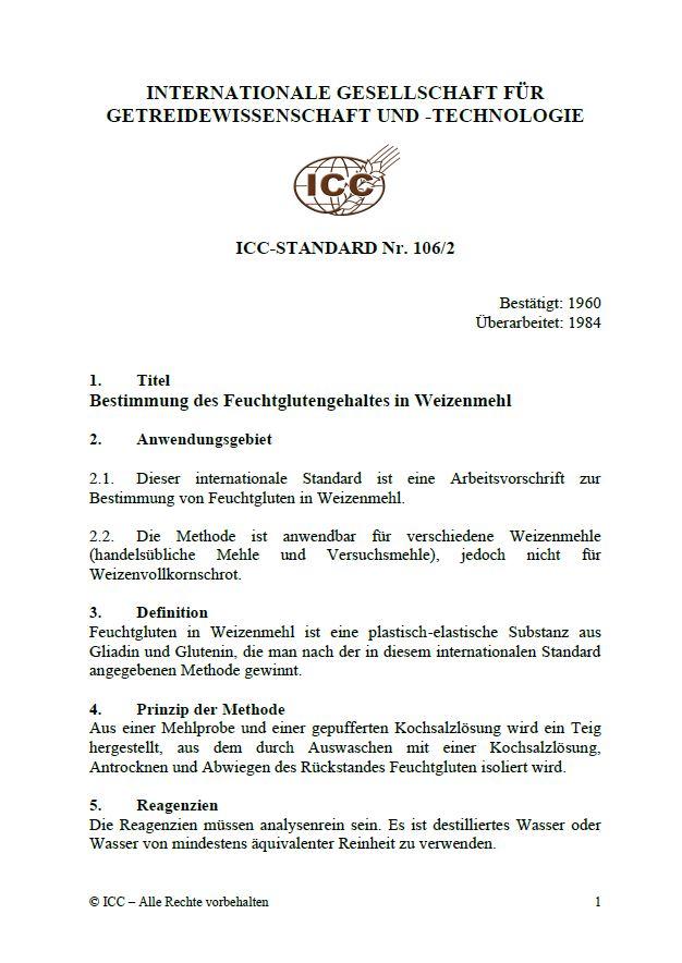 106/2 Bestimmung des Feuchtglutengehaltes in Weizenmehl [PDF]